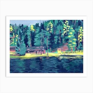 Lago Smeraldo Art Print