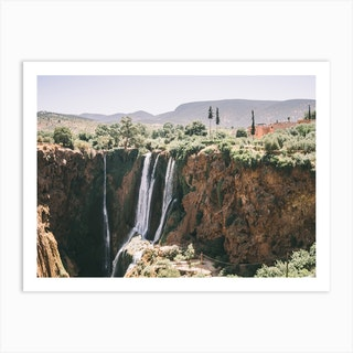 Waterfall Morocco Art Print