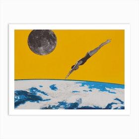 The Space Dive Art Print