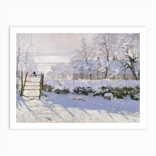 The Magpie, 1869 by Claude Monet Art Print