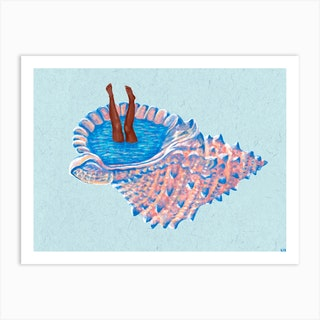 Hide Away Art Print
