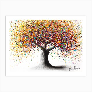 Rainbow Soul Tree Art Print