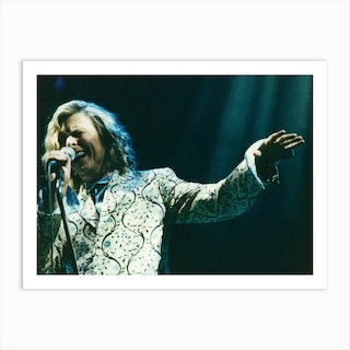David Bowie Performs On The Pyramid Stage The Glastonbury Festival Pilton Somerset 25th June 2000 Art Print