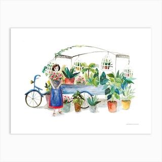 La Petite Fleuriste Art Print