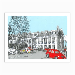 The Red Car Art Print