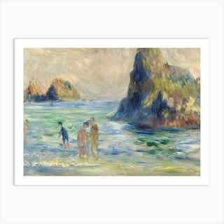 Moulin Huet Bay, Pierre-Auguste Renoir Art Print