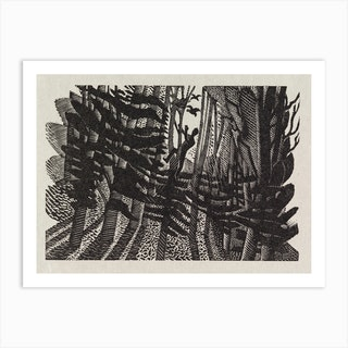 Into the woods, Eric Ravilious Art Print