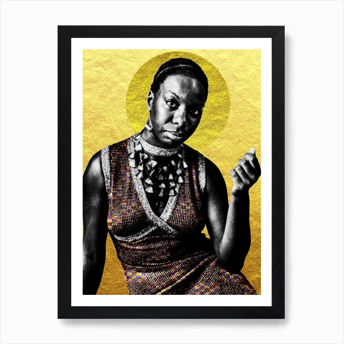 Nina Simone Art Print by Arte Fama - Fy