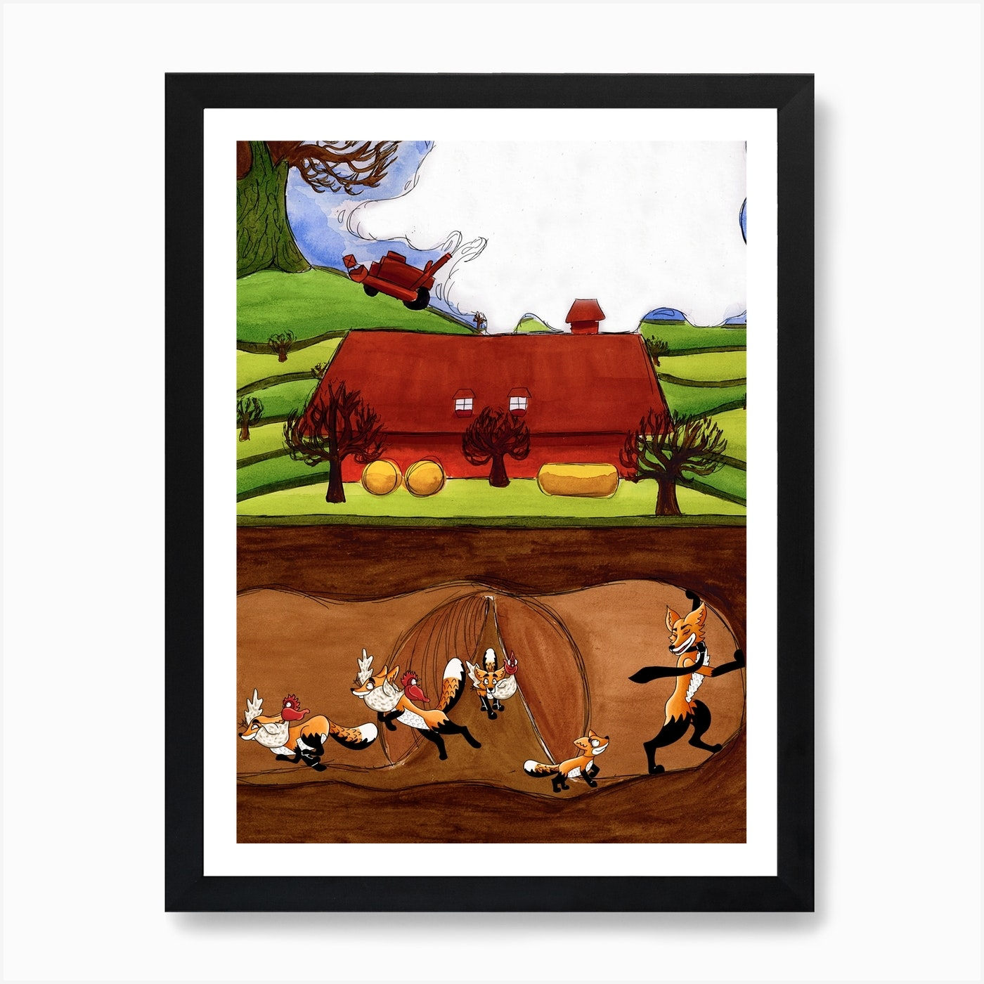 Fantastic Mr Fox Art Print By Bex Illustrates Fy