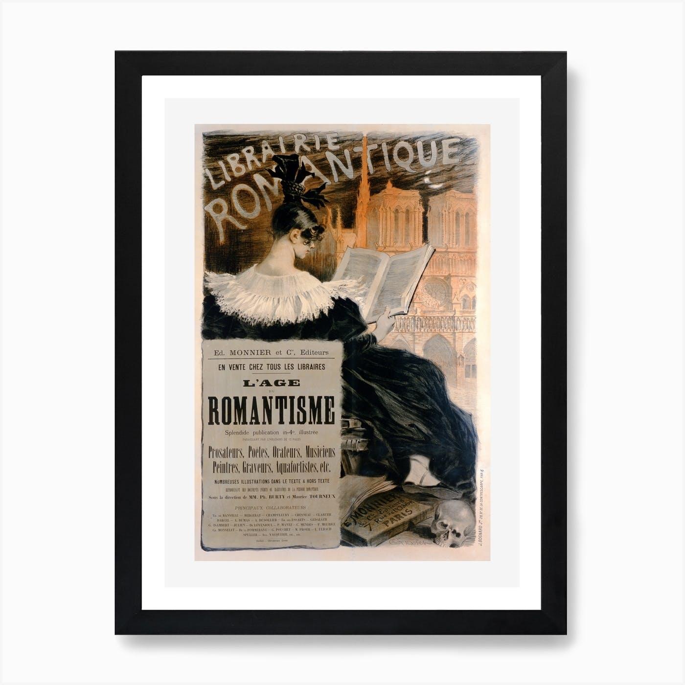 C Librairie Romantique Art Print Home Decor Wall Art Poster