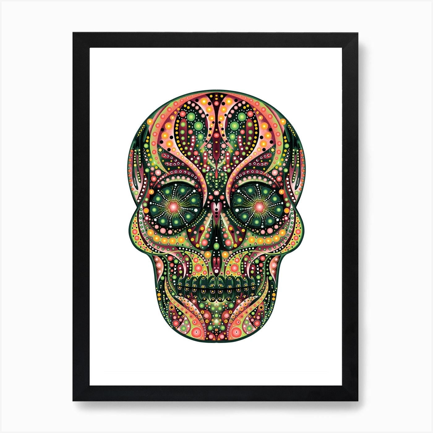 Sugar Skull Art Print By Brownflower Fy