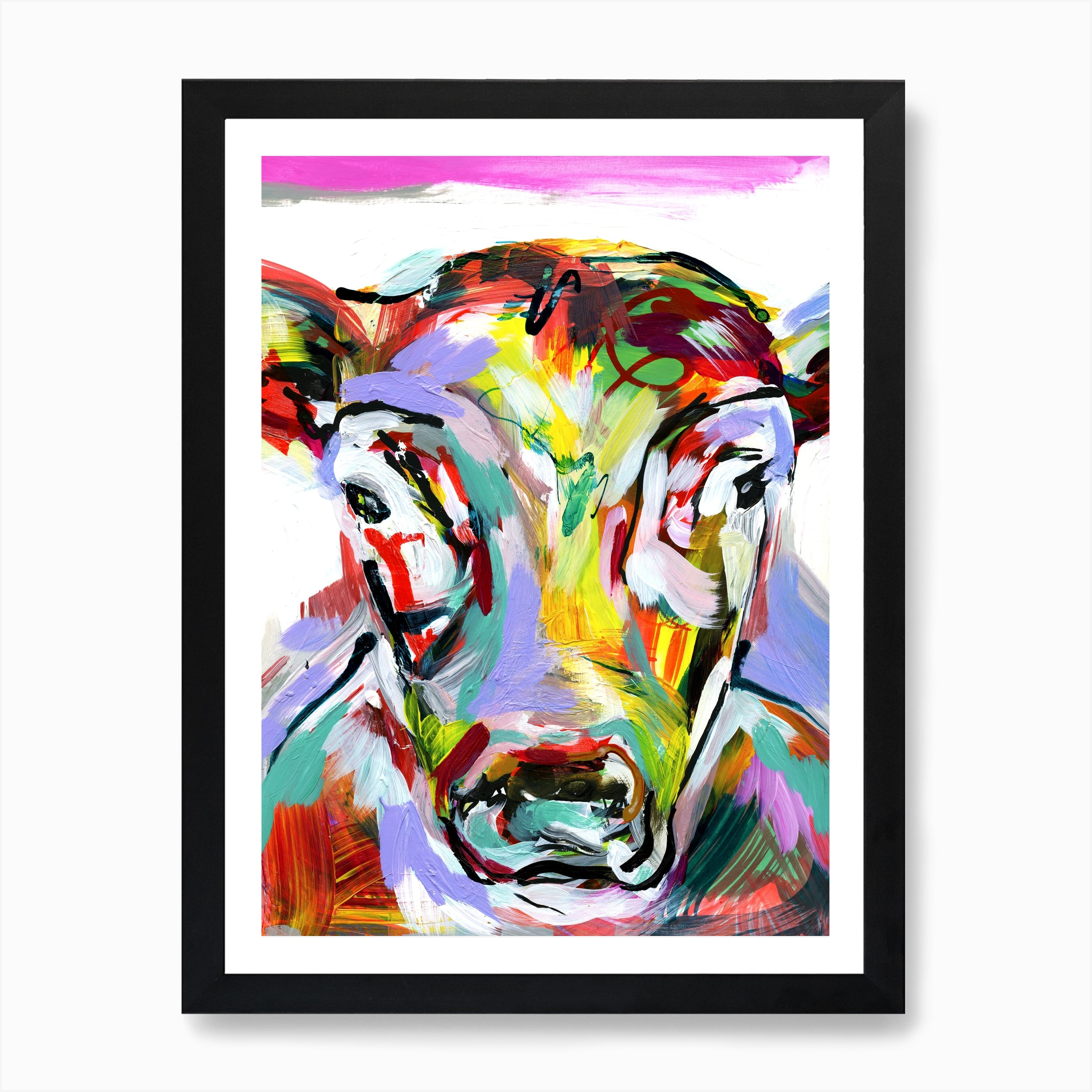 Cow Contemporary Watercolor Abstract Farm Animal Kitchen 11 x 14 ART Print