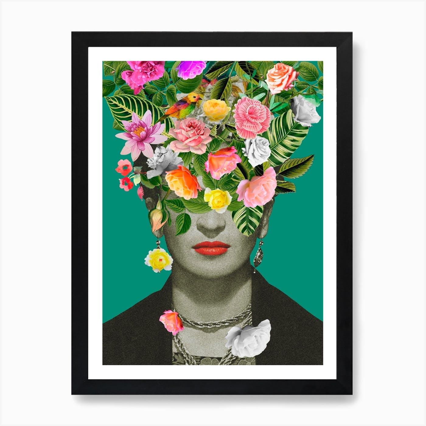 Frida Kahlo Carte d/'anniversaire-être plus comme Frida-artiste Floral