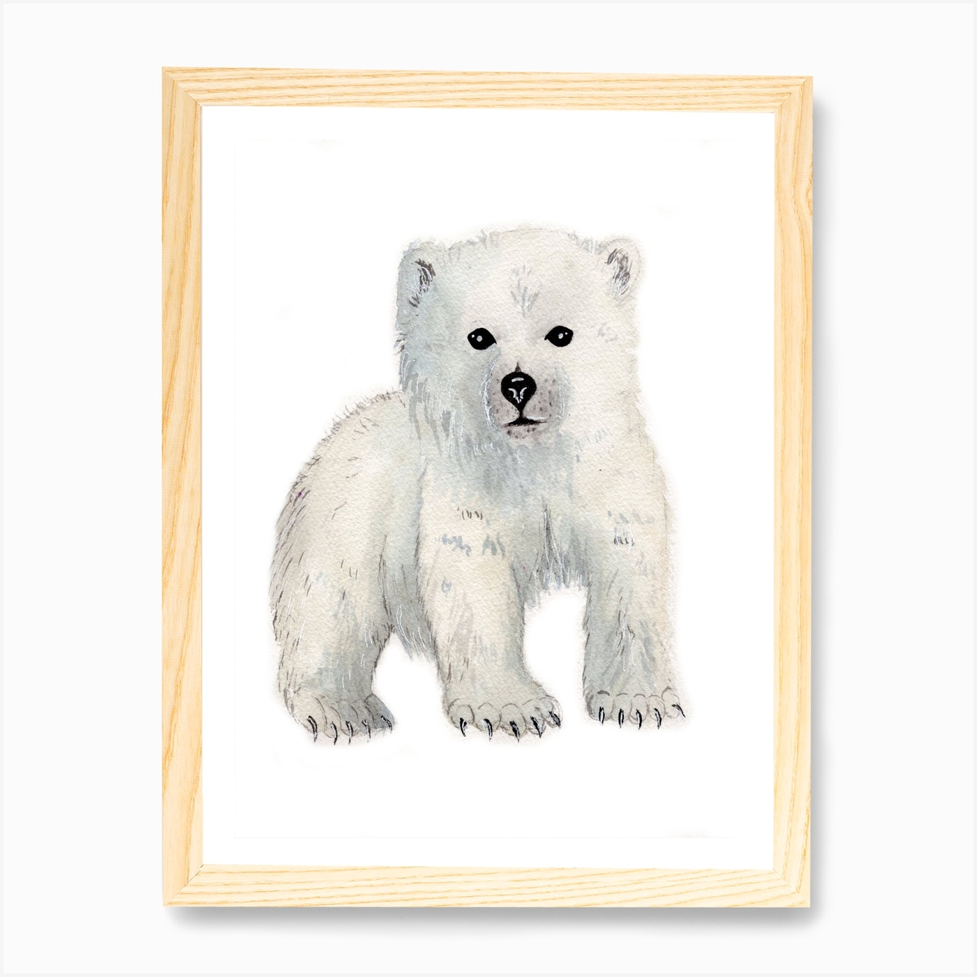 Polar Bear Cub Art Print By Kayla Jacunski Fy