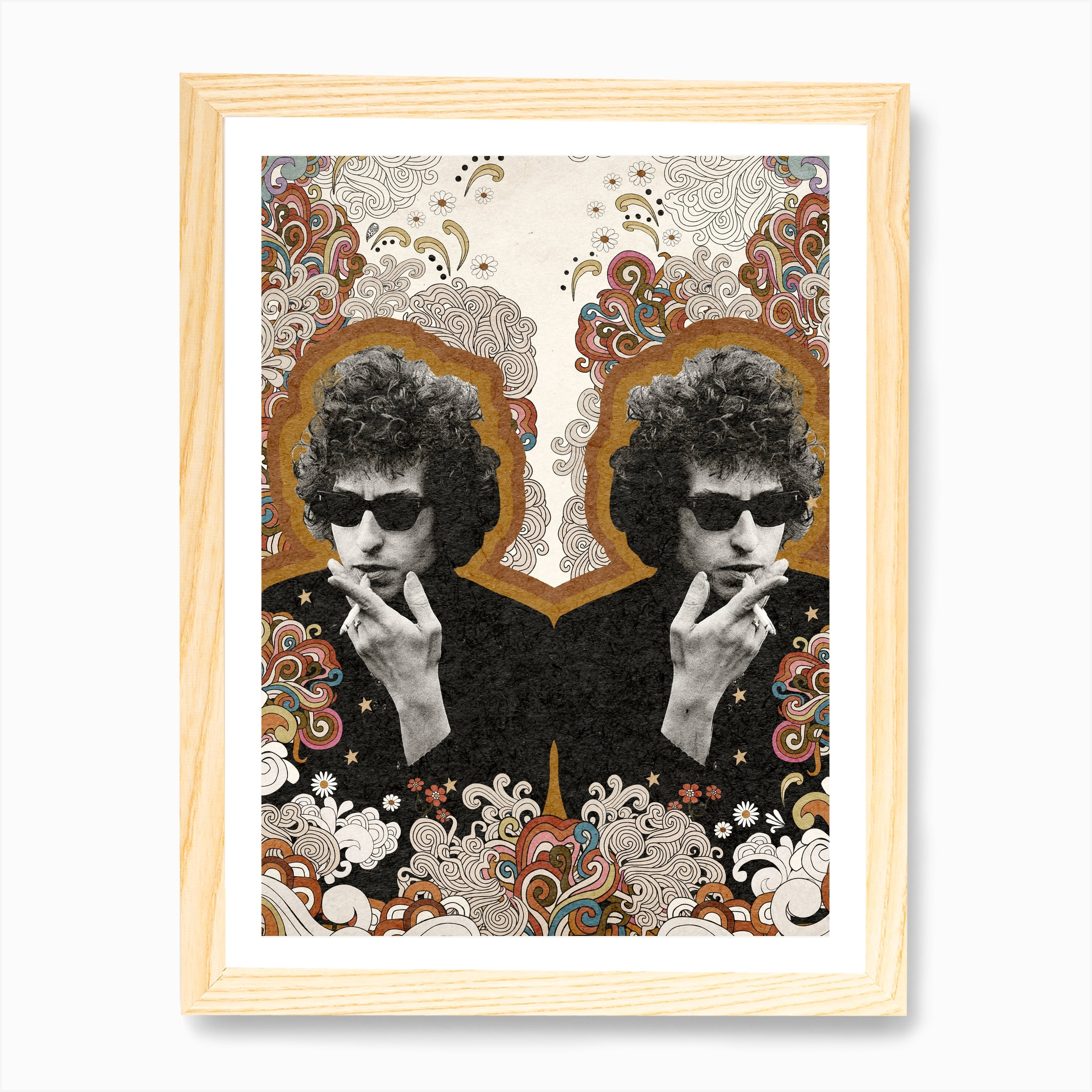 Bob Dylan Comic Icons Art Print Available In 4 Formats