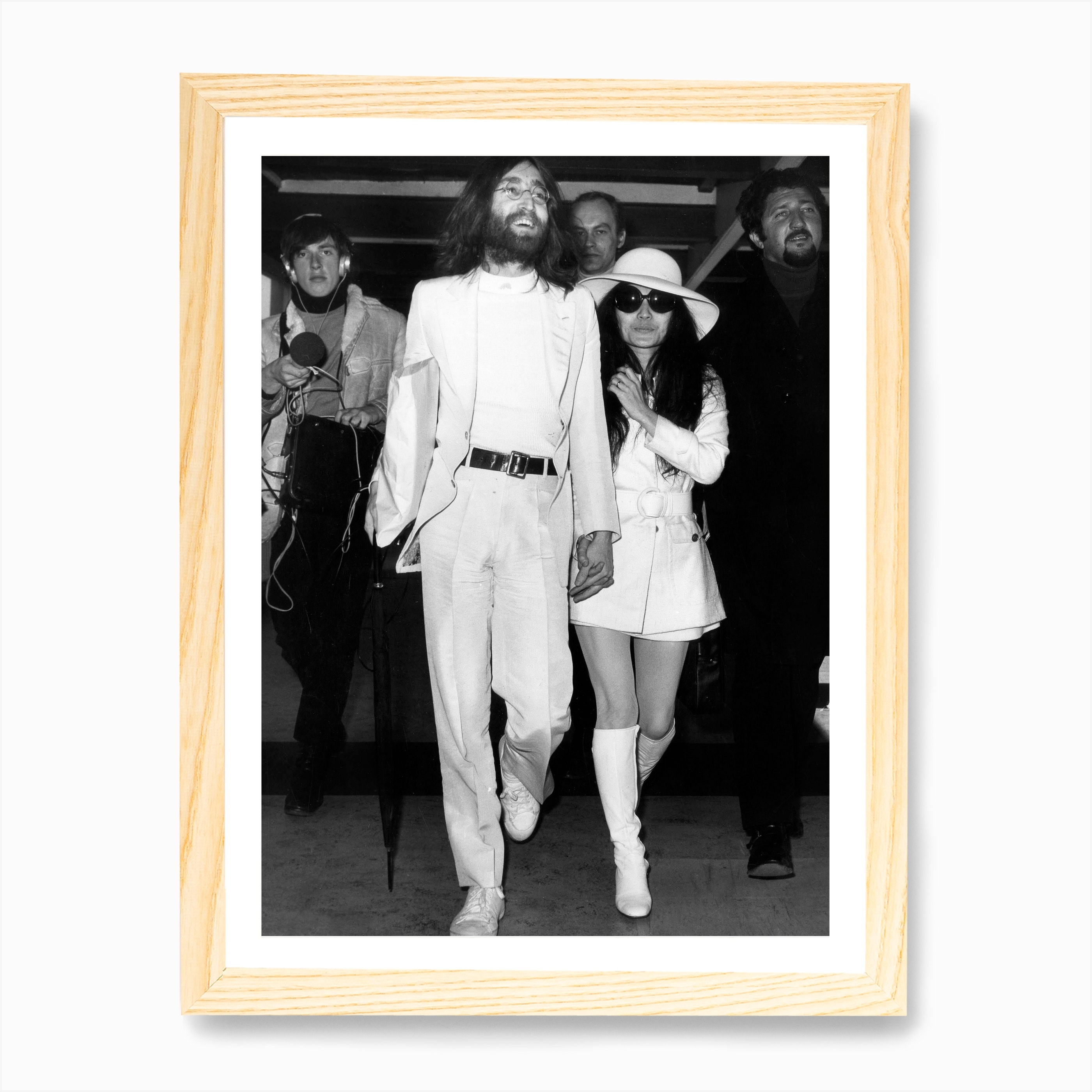 John Lennon And Yoko Ono Art Print By Vintage Photography Collection Fy