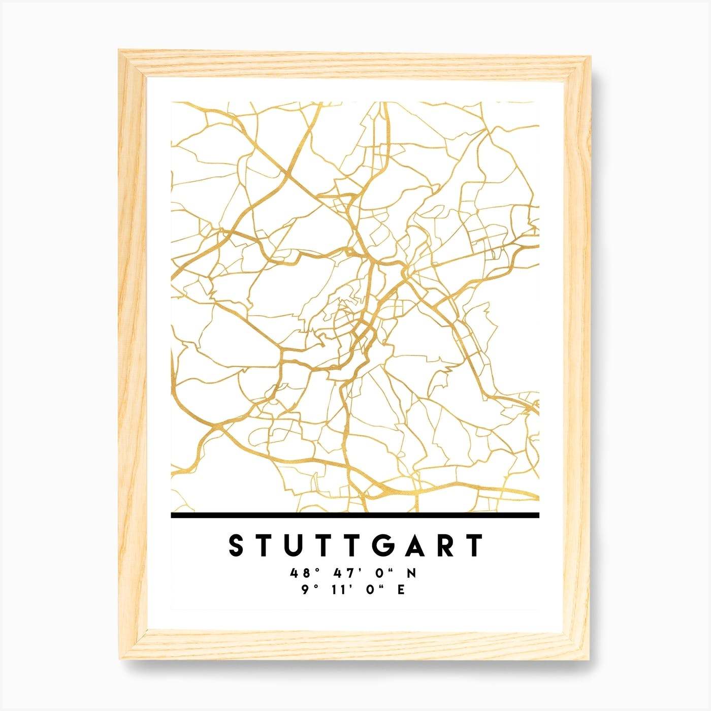 STUTTGART GERMANY Street Sign German flag city country road wall gift