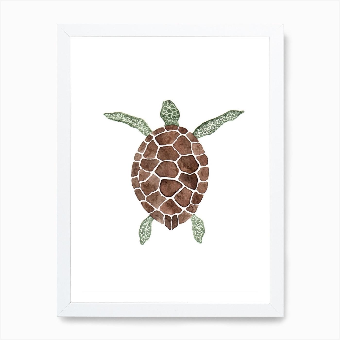 Sea Turtle Art Print By Antonia Jürgens Fy