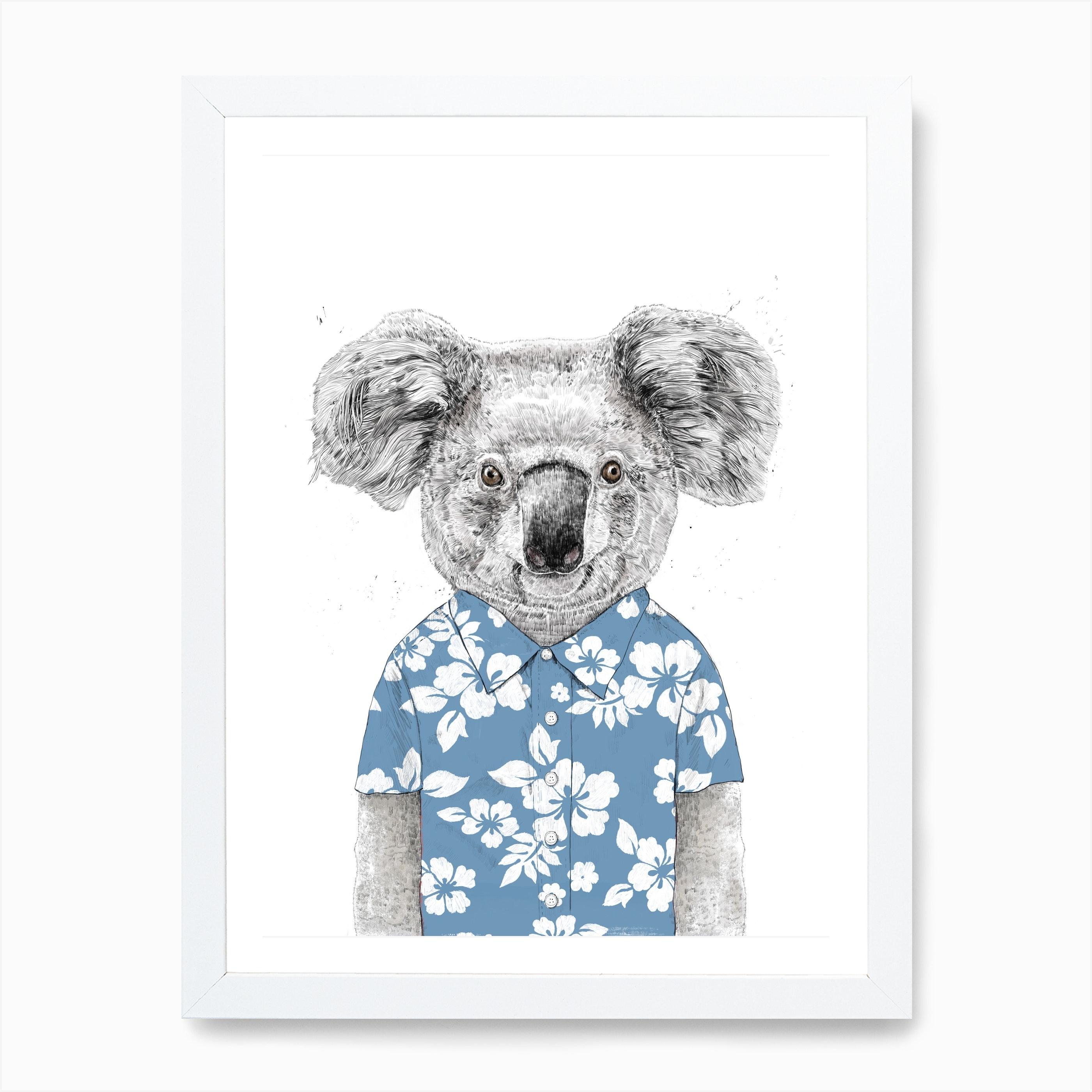 Summer Koala Blue Art Print Free Shipping Fy