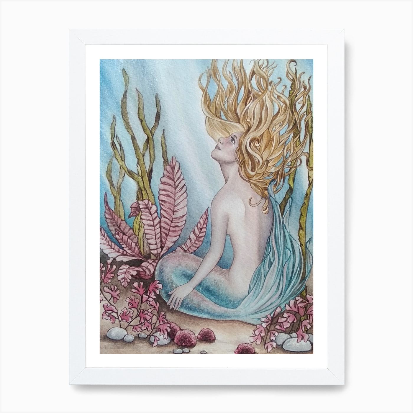 Little Mermaid Art Print By Veronica Valere Art Fy