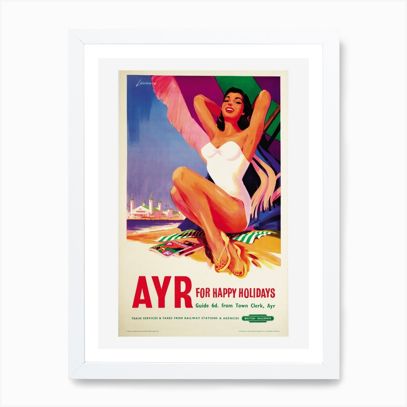 Ayr British Railways Poster Art Print By Vintage Print And Poster Collection Fy