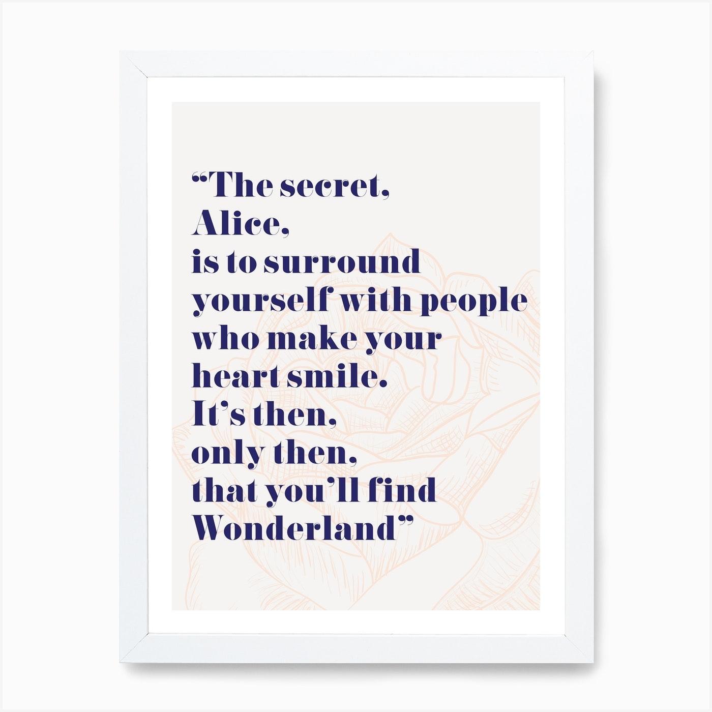 Wonderland Alice Quote Art Print By Mambo Fy