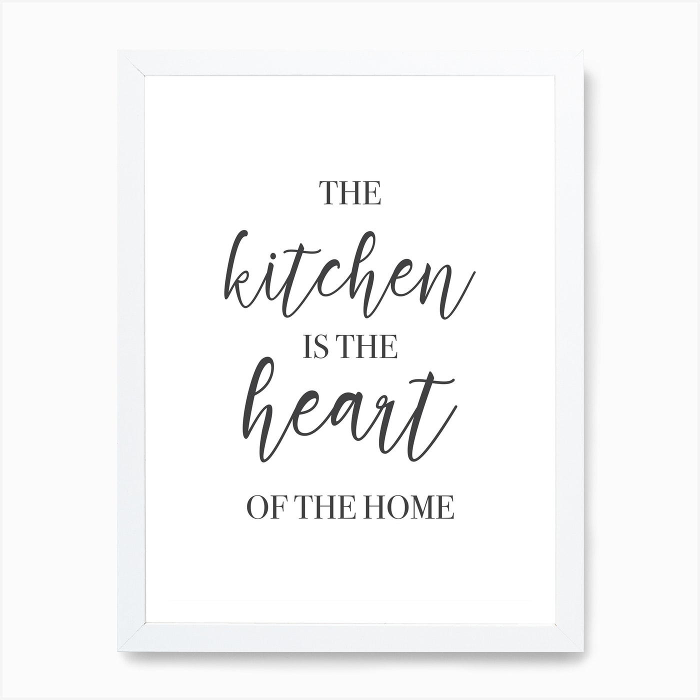 The Kitchen Is Heart Of Home Art Print By Mambo Fy