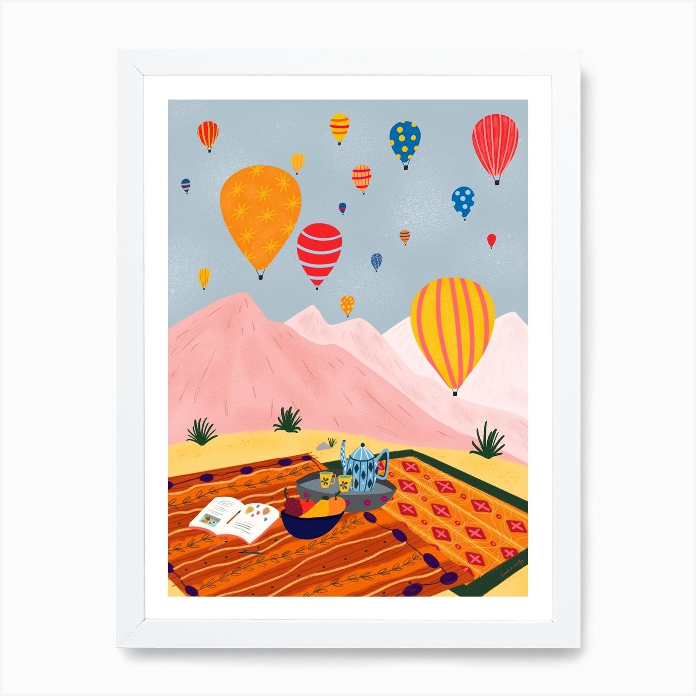 Hot Air Balloon Turkey Art Print By Niamh Illustrates Fy