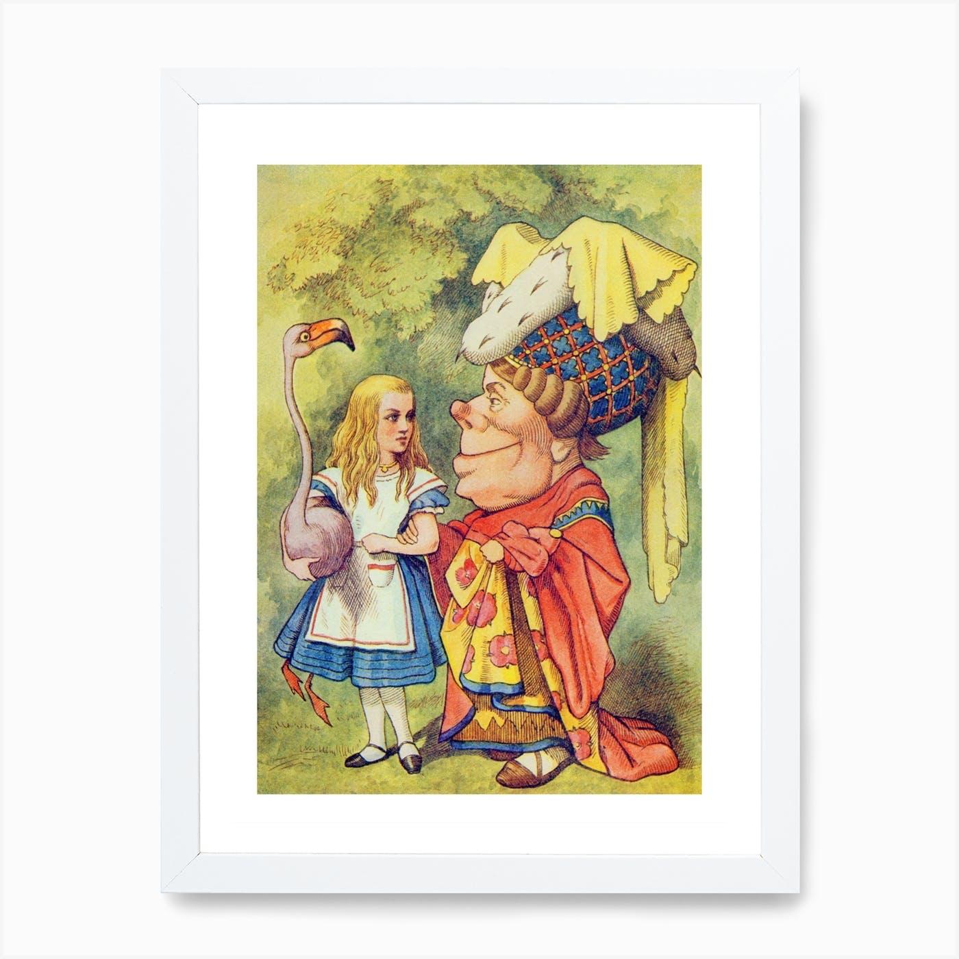 Vintage Art Print Alice in Wonderland Archival Nursery Wall Art Painting Roses