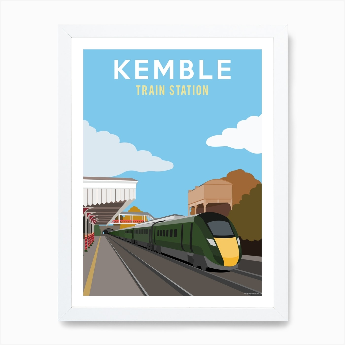 Kemble Train Station Art Print By Cotswold Poster Co Fy