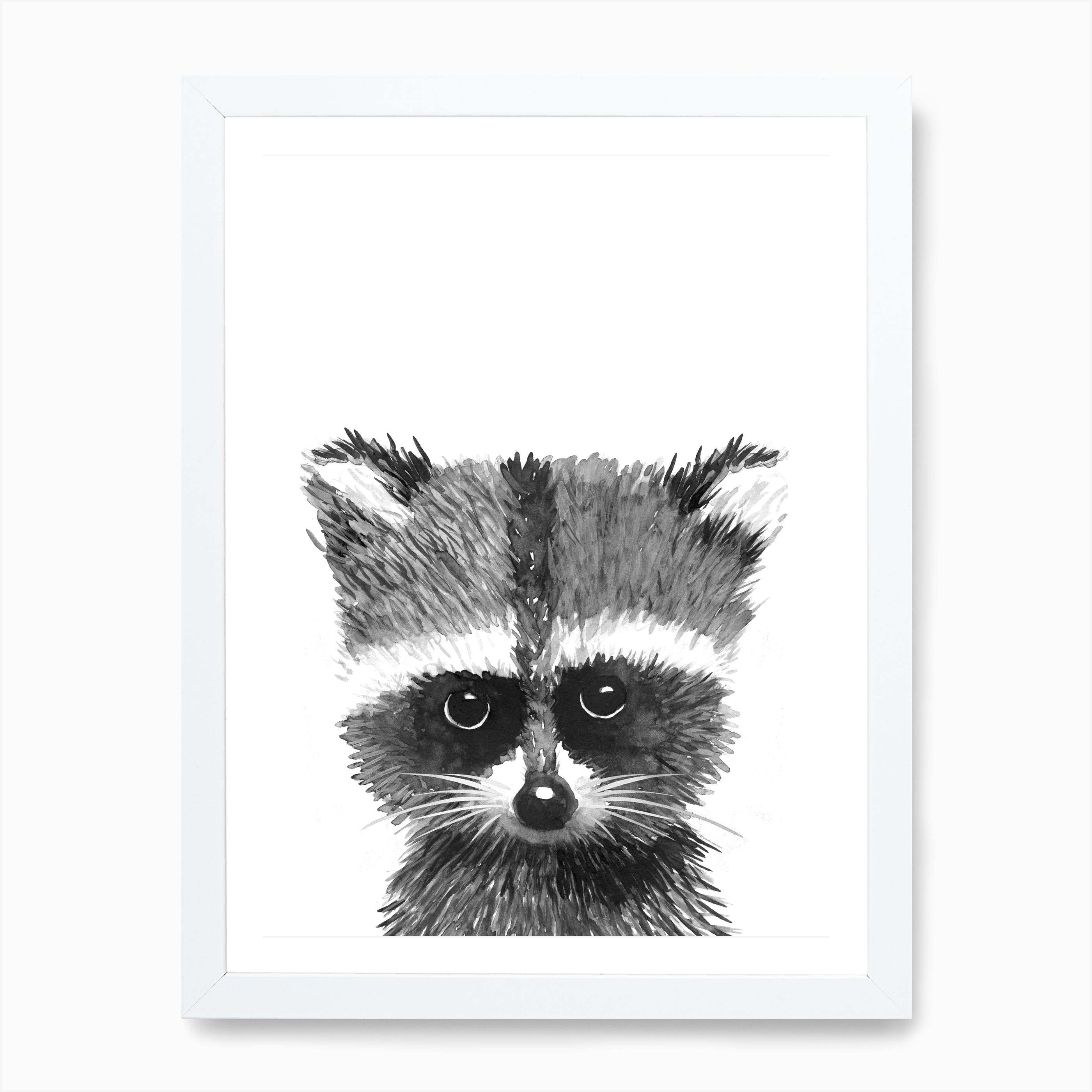 Racoon Portrait Canvas Picture Giclee Print Unframed Home Decor Wall Art