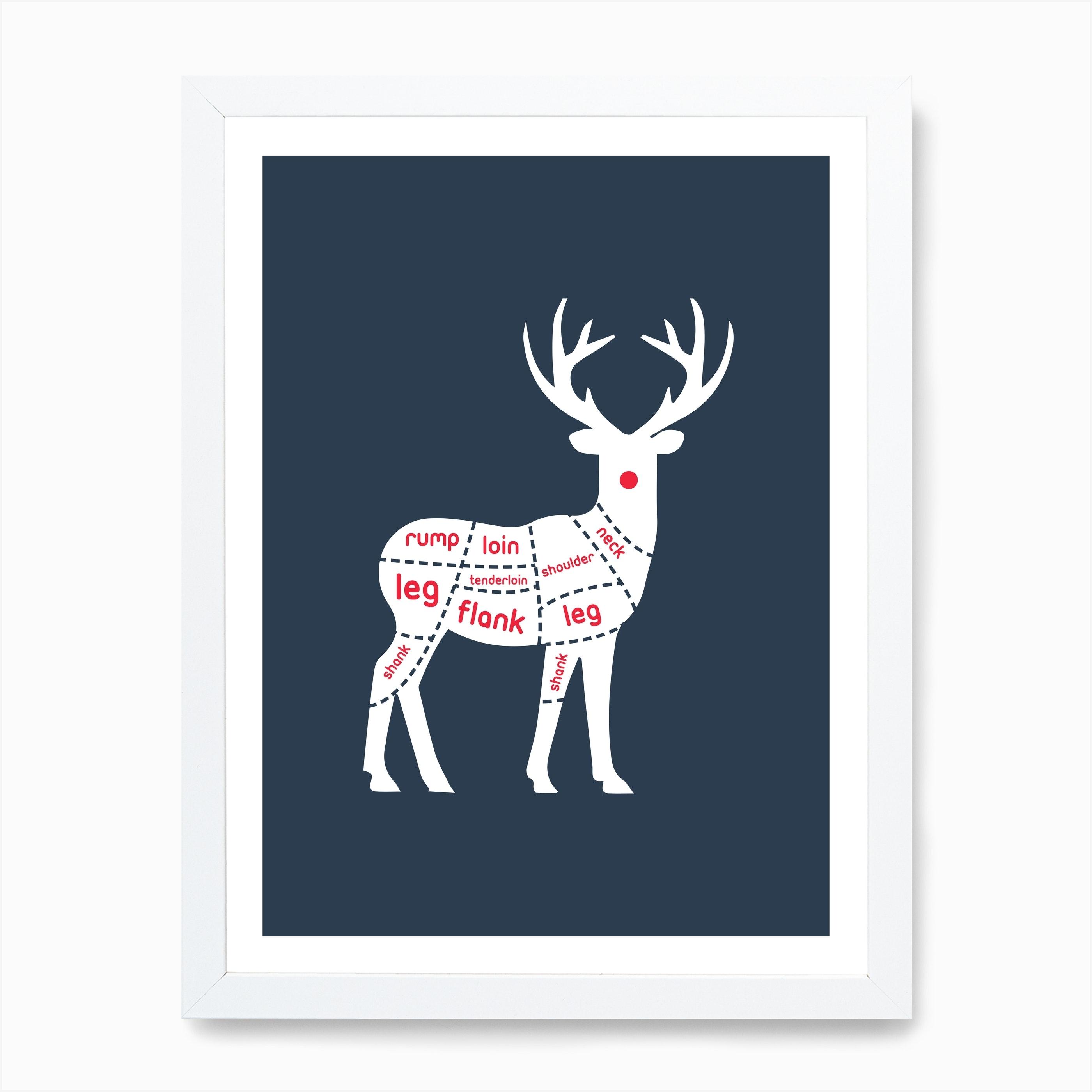 Reindeer Meat Art Print By Quite Literally Fy