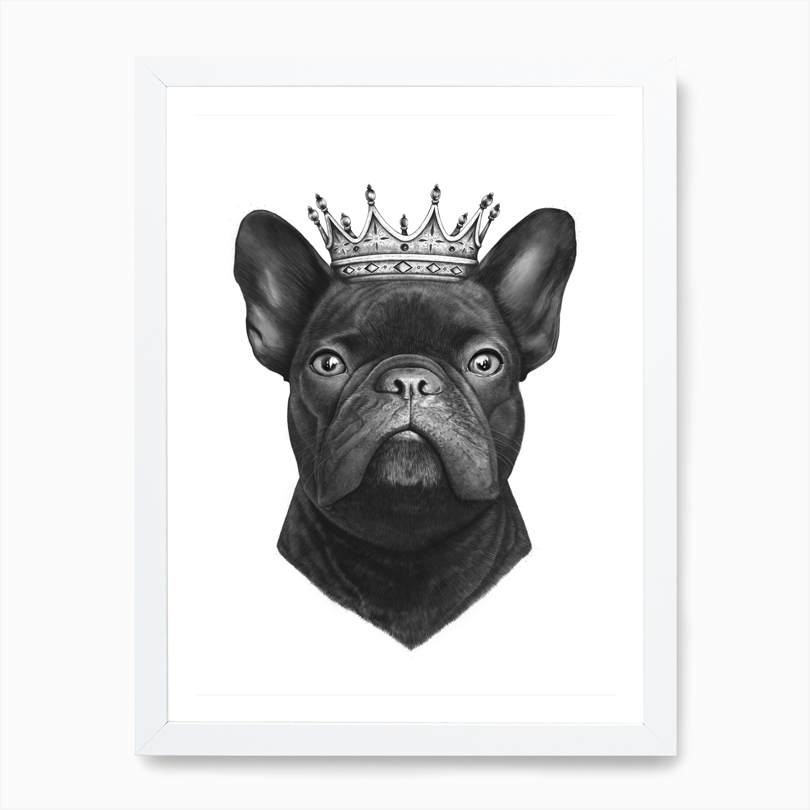 King French Bulldog Art Print Free Shipping Fy
