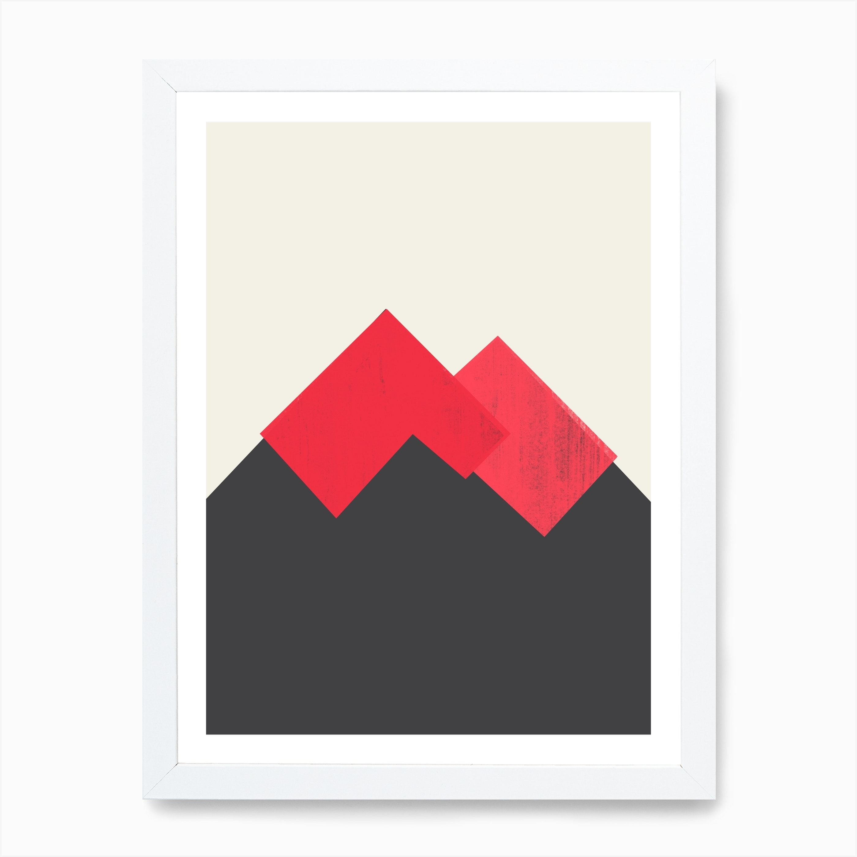 Pastel Mountains Ii Volcano Art Print By Trevor May Fy