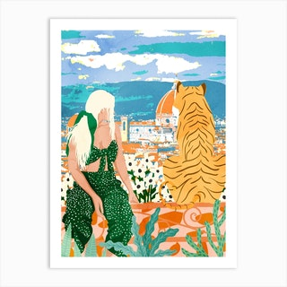 The Italian View Art Print