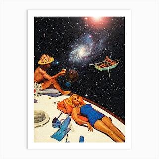 Intergalactic Boat Ride Art Print