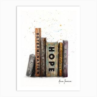 The Books Of Success Art Print