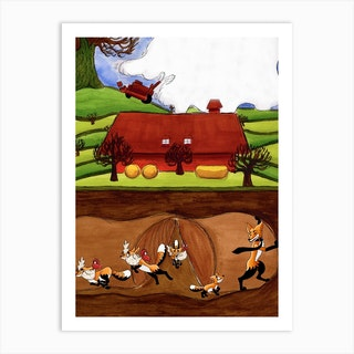 Fantastic Mr Fox Art Print