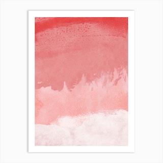 Minimal Landscape Pink 02 Art Print