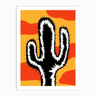 Dynamic Cactus Art Print