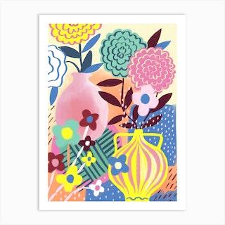 Still Life Vases Art Print