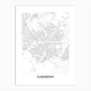 Gaborone Art Print