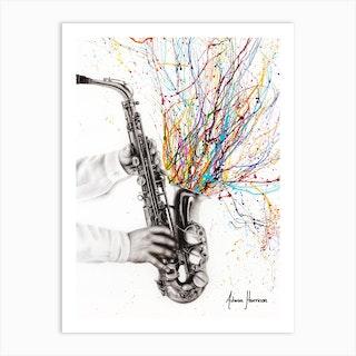 The Jazz Saxophone Art Print