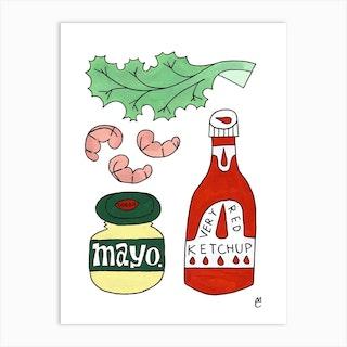 Shrimp Cocktail Art Print
