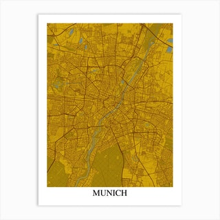Munich Yellow Blue Art Print