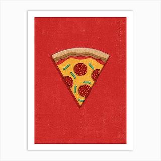 Fast Food Pizza Art Print