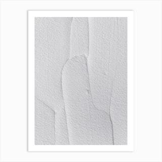 White Textures 3 Abstract Shapes Art Print