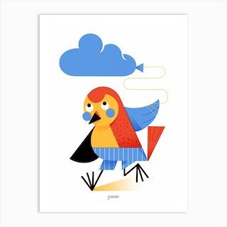 Bird And Cloud Art Print