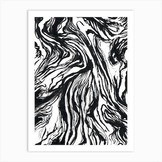 Black Marble Art Print