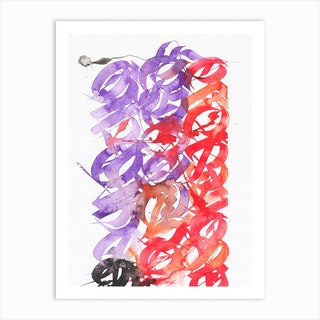 Purple Hiver Alt Mix Art Print